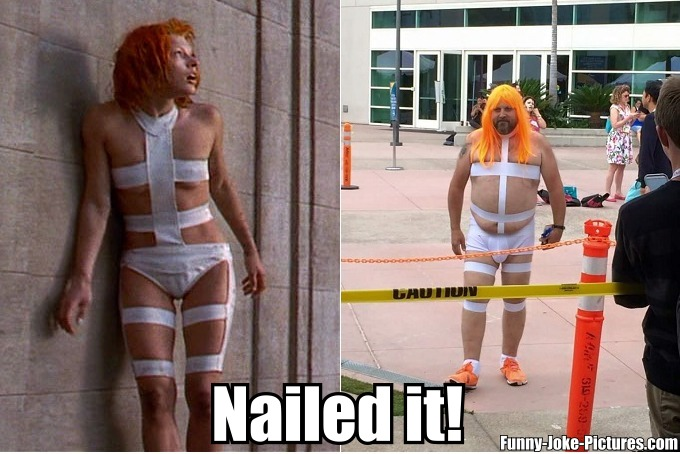 Funny 5th Element Nailed It Joke Picture