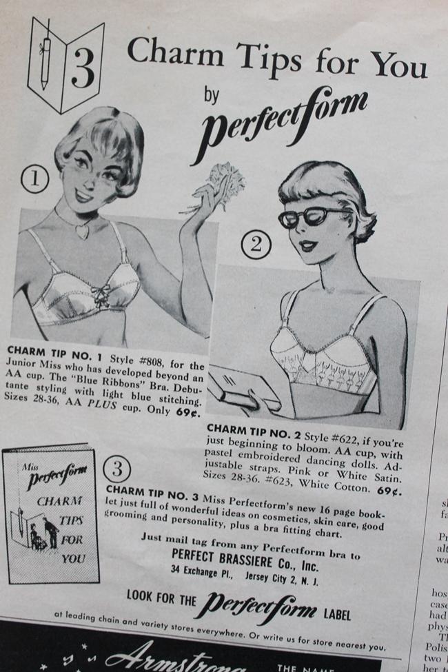 1950s bra advertisement