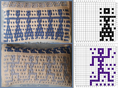 2 row mosaic crochet