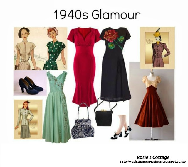 Release Your Inner designer With Polyvore - 1940s Glamour by Rosies Cottage