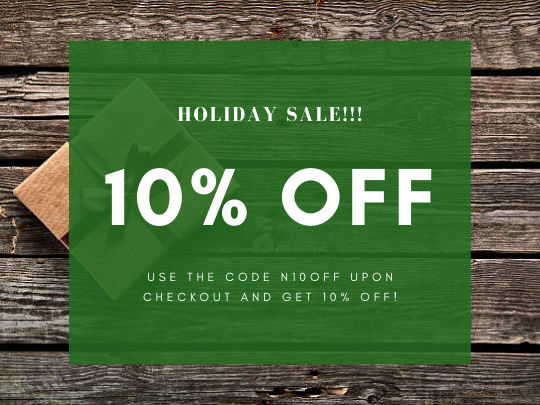 10% OFF [Holiday Sale!!!]