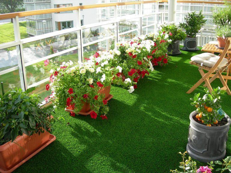 rumput sintetis rooftop