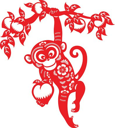 El mono según la cultura china es un animal astuto, travieso y tramposo