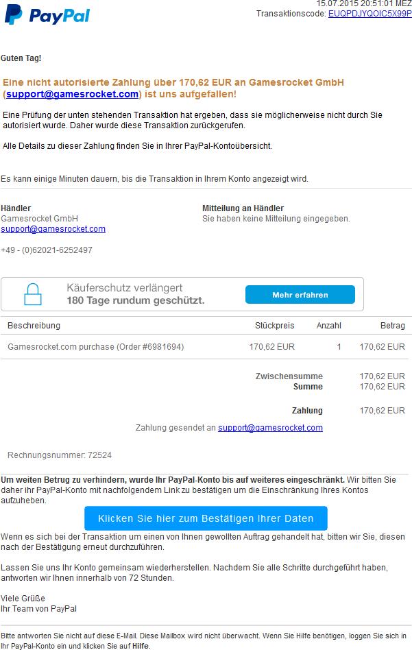 paypal autorisierung löschen