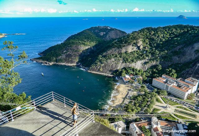 Praia Vermelha vista do Morro da Urca, Rio de Janeiro