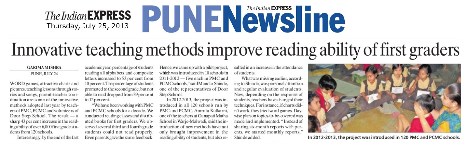 Door Step School, Pune : Innovative teaching methods improve