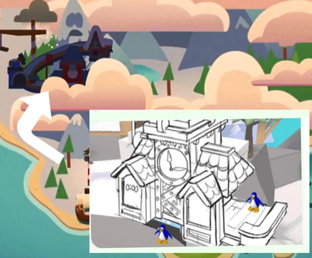 Torre del Reloj en Club Penguin Island