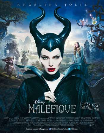 Poster Of Maleficent 2014 English 450MB BRRip 720p ESubs HEVC Free Download Watch Online downloadhub.in