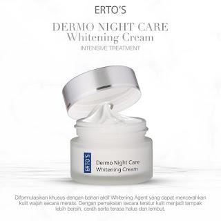 ERTO'S Dermo Night Care Whitening Cream Intensive Treatment Original BPOM