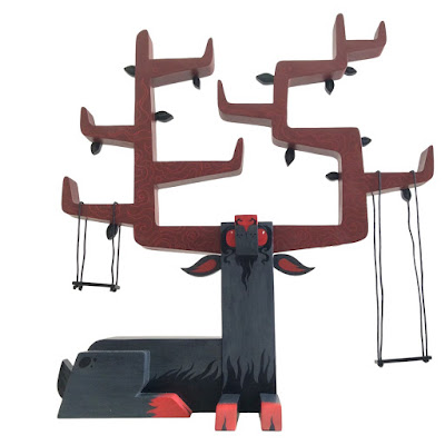 Nightstalker the Winter Reindeer Resin Display Shelf by Andrew Bell x Gary Ham x Pobber
