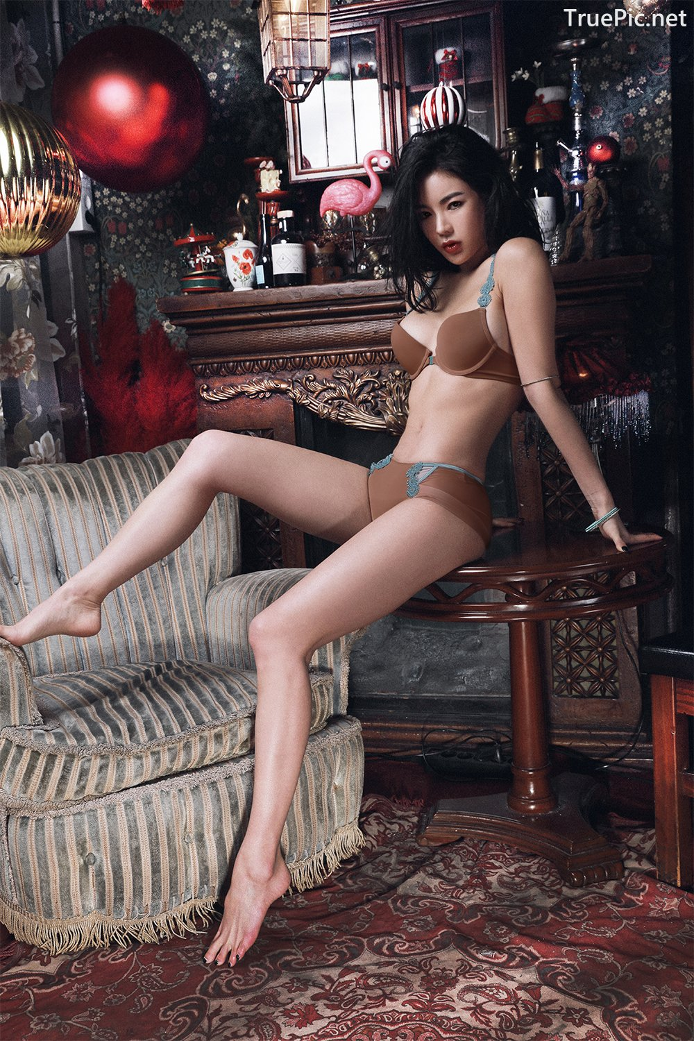 Image-An-Seo-Rin-Brown-and-Red-Lingerie-Korean-Model-Fashion-TruePic.net- Picture-9