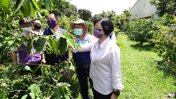 穩定彰化咖啡種植農業用水 補助芬園鄉農會咖啡產銷班儲水桶