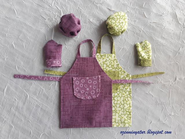 Miniature kitchen apron
