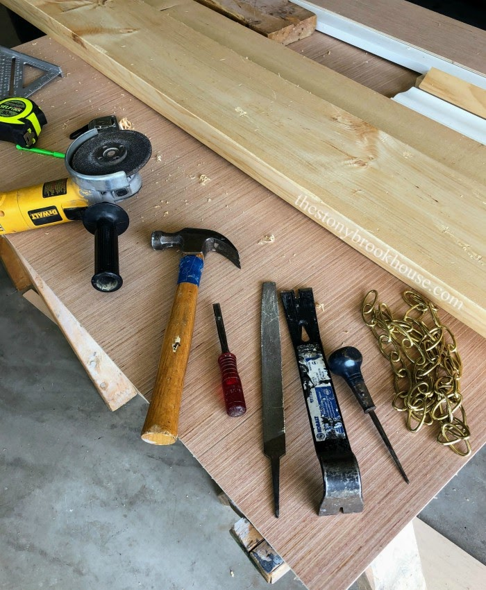Tools to distress wood