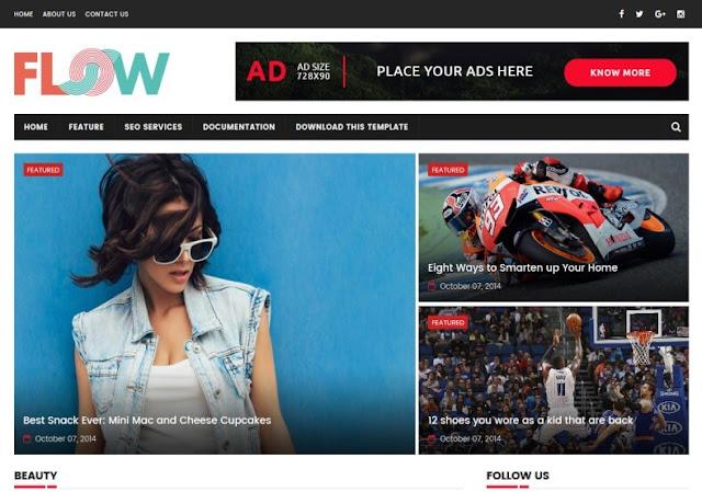 Flow Türkçe Blogger Magazin Teması