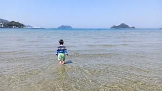 西広海岸の透明な海