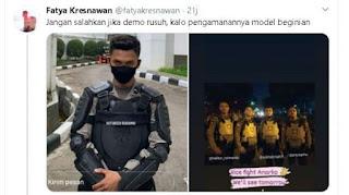 Pamer Foto Berseragam, Sejumlah Anggota Polisi Malah Provokasi Massa Aksi