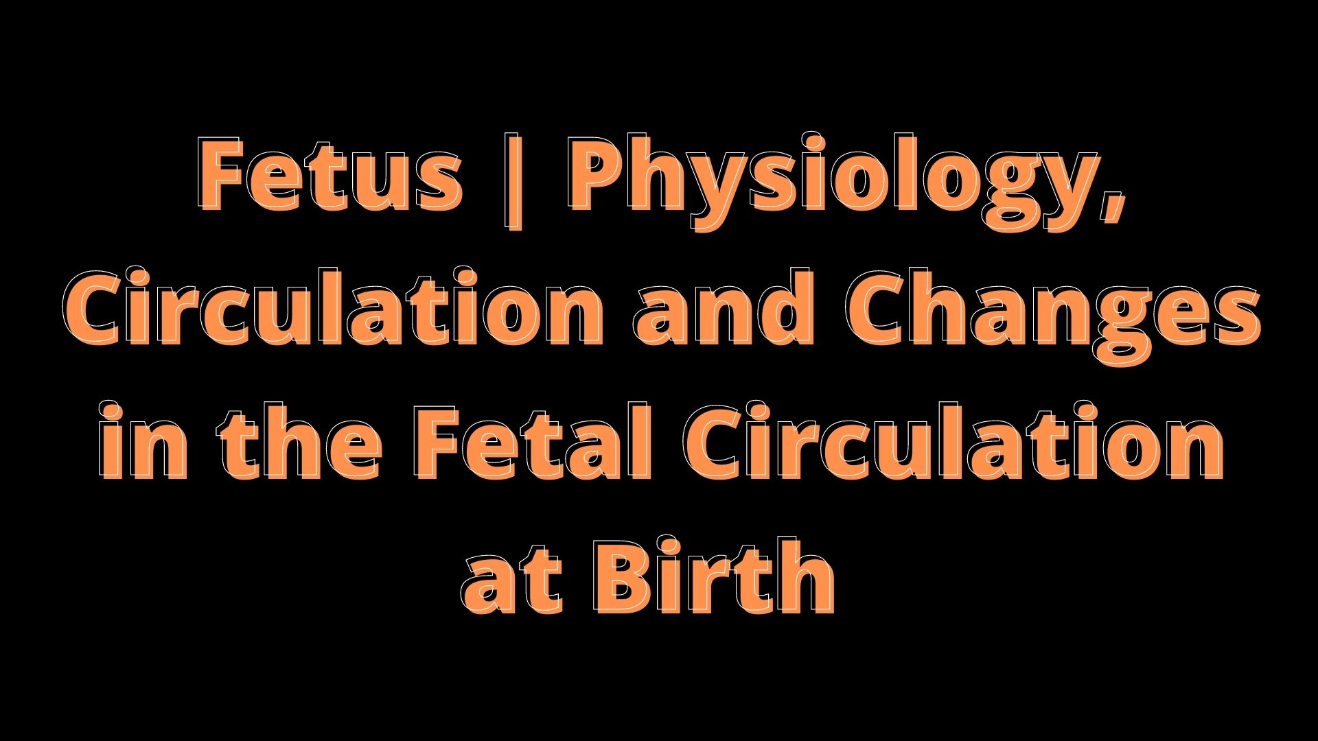 Fetus | Physiology - Circulation
