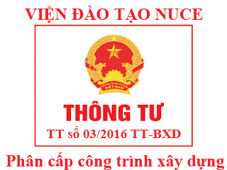 thong tu 03-2016 quy dinh phan cap cong trinh xay dung
