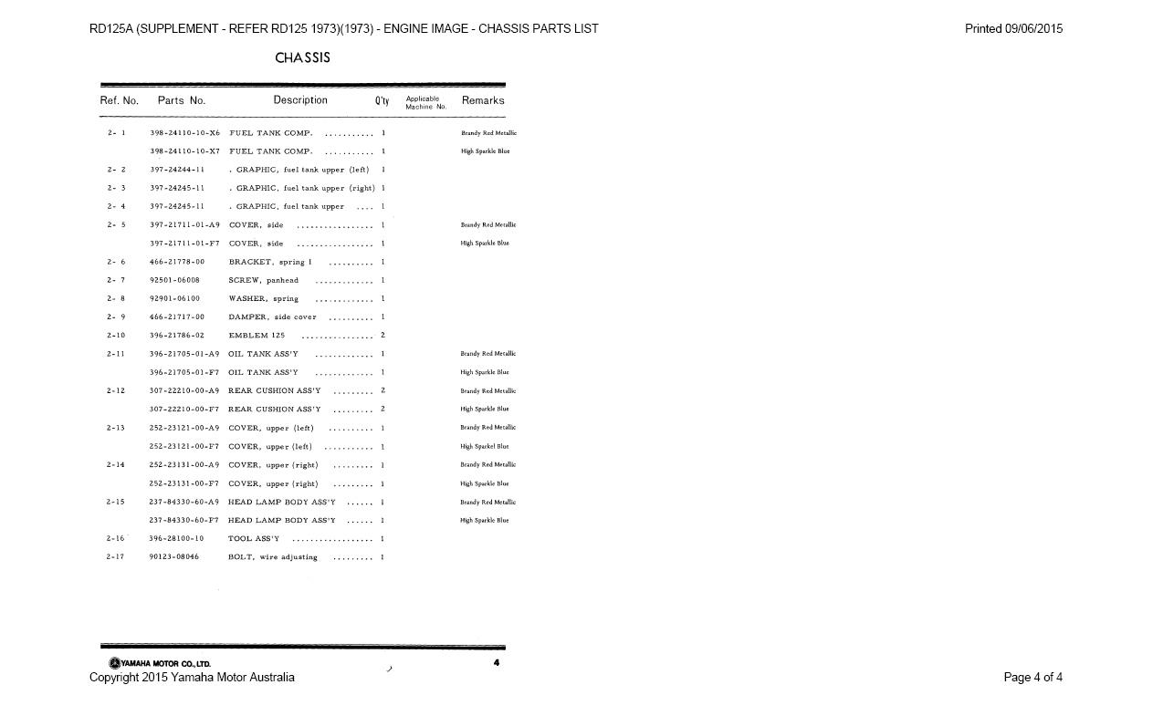 Supplement-RD125A-Refer-RD125-1973-4 Yamaha As Wiring Diagram on suzuki quadrunner 160 parts diagram, yamaha steering diagram, yamaha wiring code, yamaha solenoid diagram, yamaha ignition diagram, yamaha motor diagram, yamaha schematics,