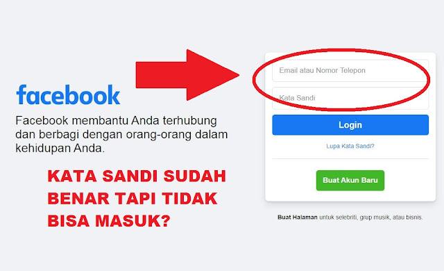 Kenapa FB Tidak Bisa Dibuka Padahal Kata Sandi Benar