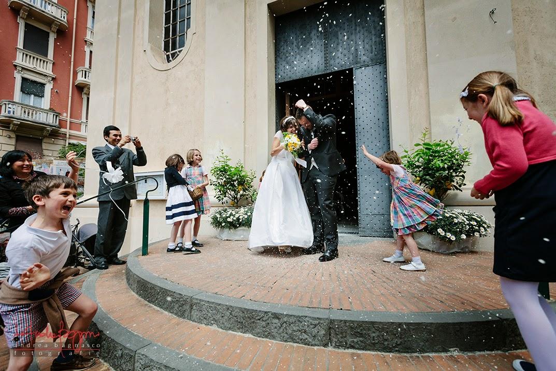 uscita sposi matrimonio Genova Castelletto