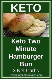 Keto Two Minute Burger Bun
