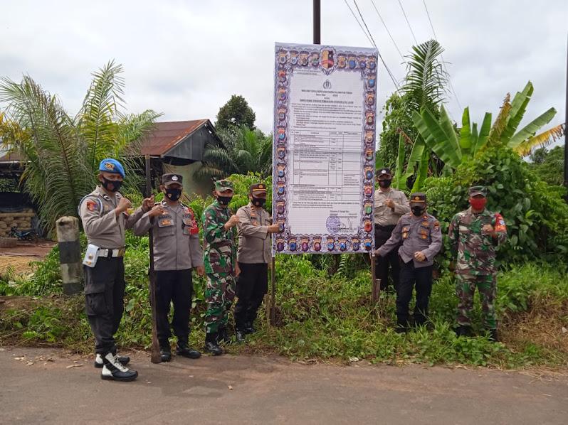 Cegah Karhutla, Sinergitas TNI Polri Di Cempaga Sosialisasikan Maklumat Kapolda Kalteng