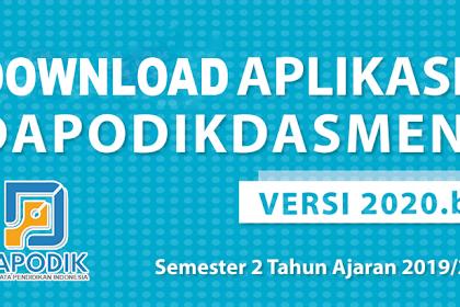 Download Aplikasi Dapodikdasmen Versi 2020.b Semester Genap