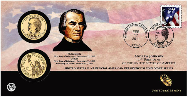 Andrew Johnson 2011 One Dollar Coin Cover