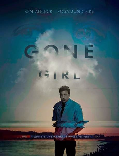Gone Girl Movie poster featuring Ben Affleck for the movie based on book by Gillian Flynn