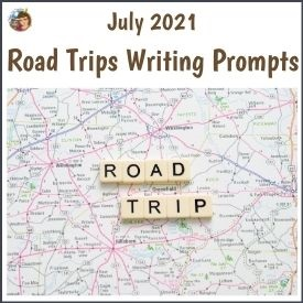July Writing Prompt Freebie Road Trip Theme