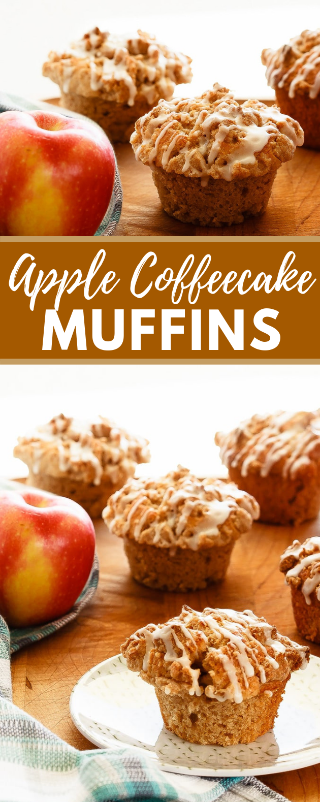 Apple Muffins with Crumb Topping #cakes #dessert