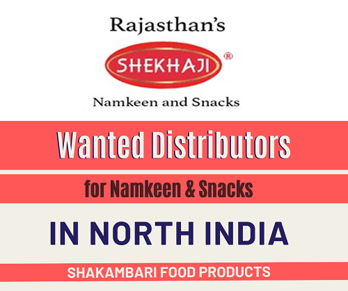 Wanted Distributors for Namkeen & Snacks Products in North India
