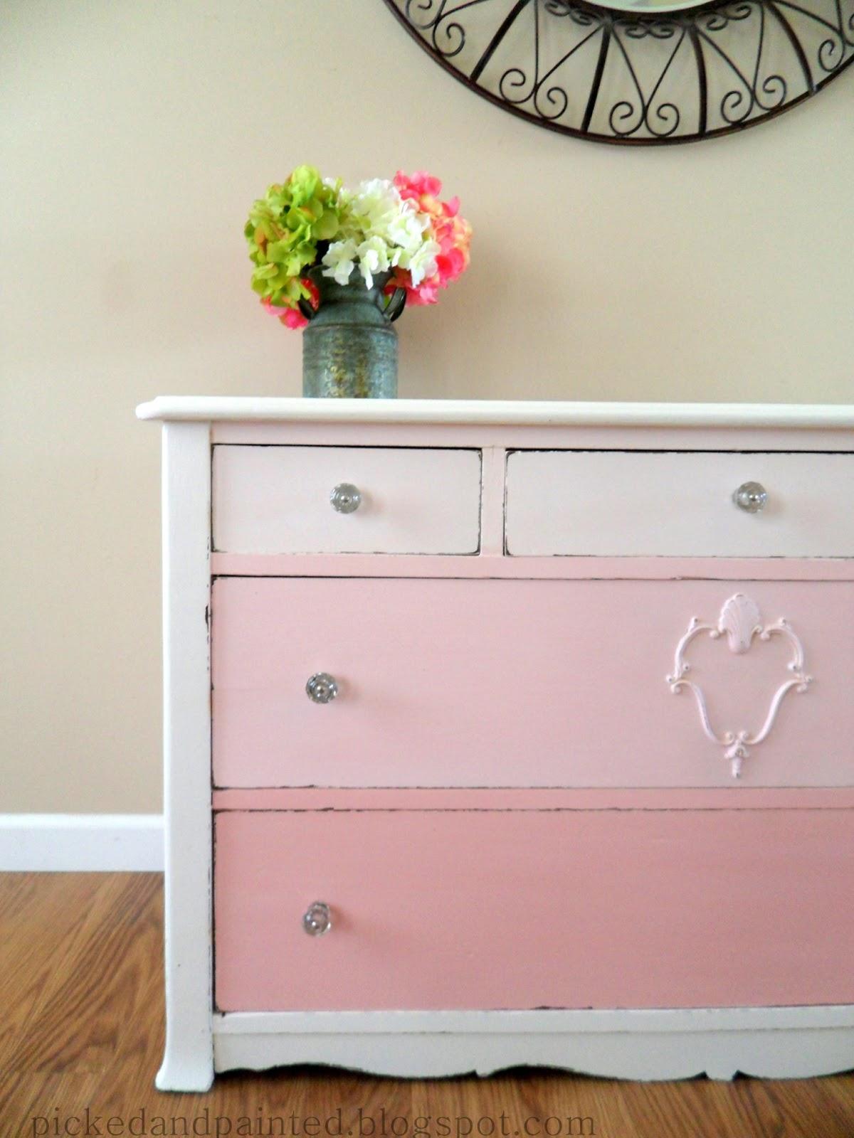 Pink Dressers For Girls Bedroom Set: Helen Nichole Designs: Pink Ombre Dresser
