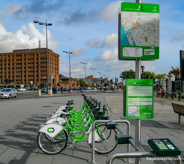 Sistema de aluguel de bicicletas em Liverpool