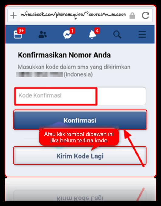 cara ganti nomor telepon di fb