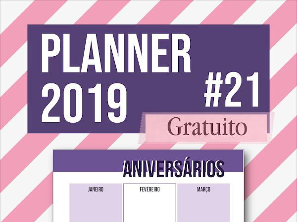 Planner 2019 #21: aniversários