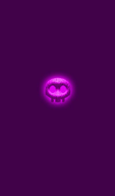 Simple pink skull