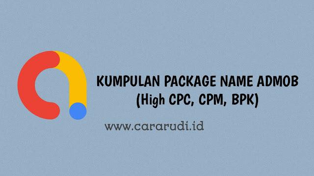 kumpulan package name admob terbaru