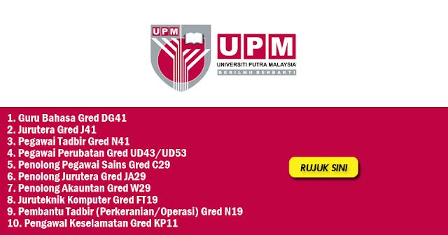 jawatan kosong universiti putra malaysia