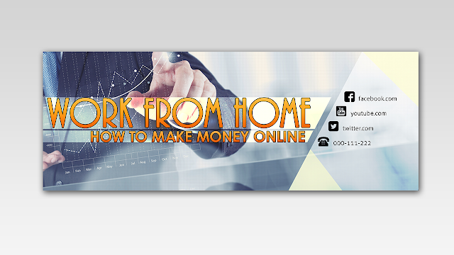 Work From Home - Free Facebook Timeline Cover Design