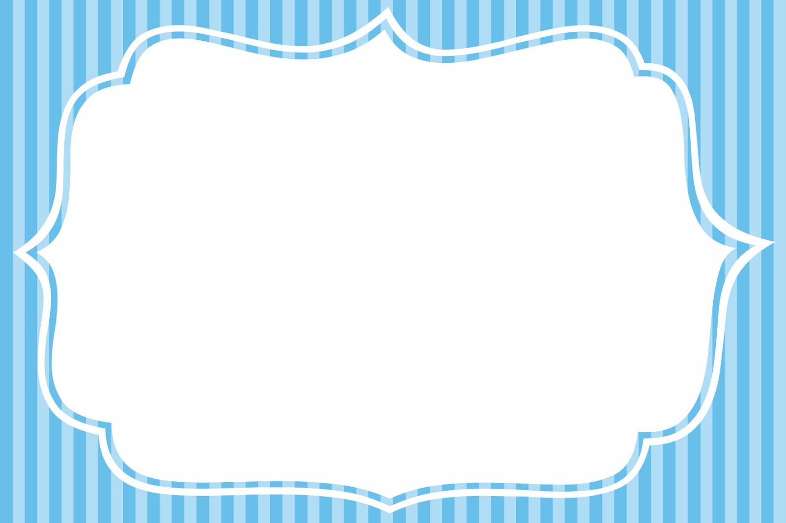 Rayas Azul y Celeste: Imprimibles de Primera Comunión e Invitaciones ...
