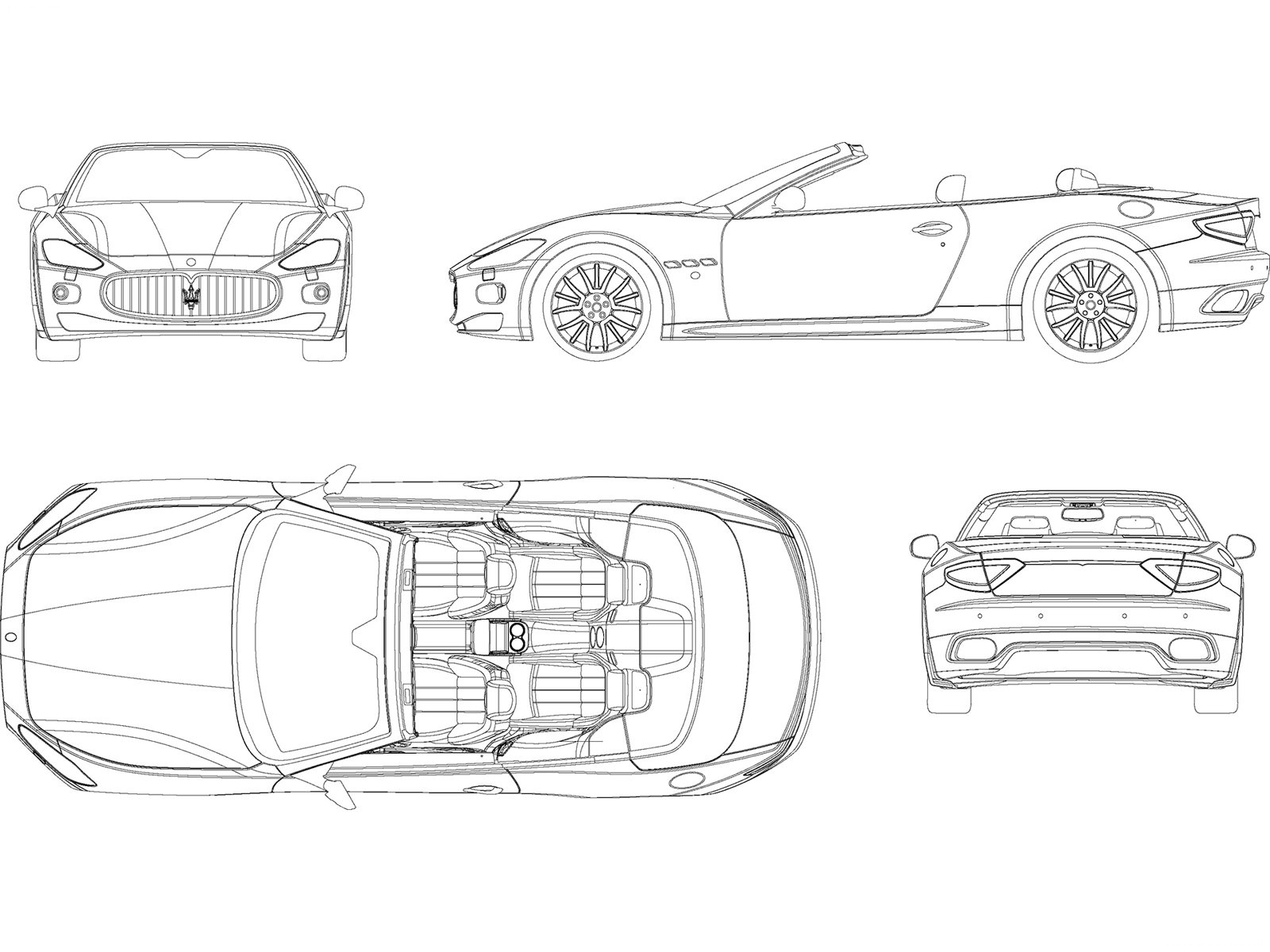3d Auto Club Blueprints Of Cars