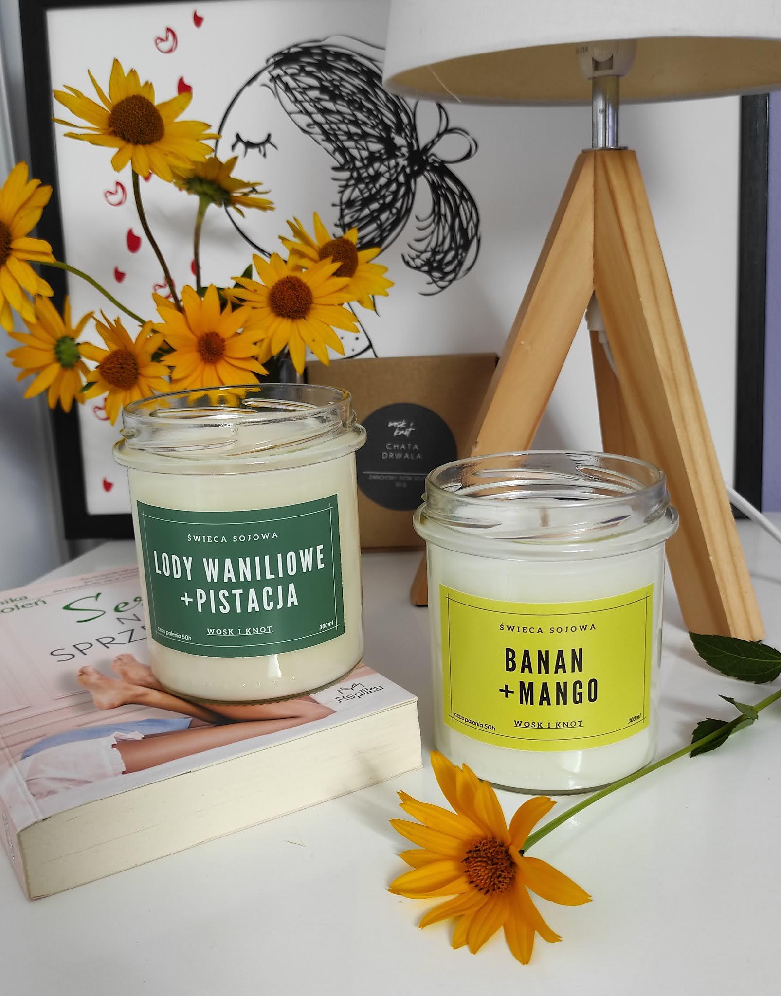Wosk i knot - ręcznie robione, naturalne świece sojowe