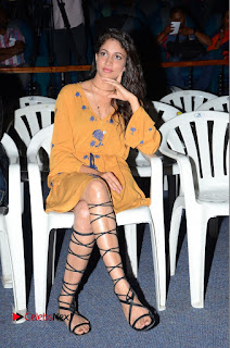 Lavanya Tripathi Pictures in Short Dress at Srirastu Subhamastu Trailar Launch ~ Celebs Next