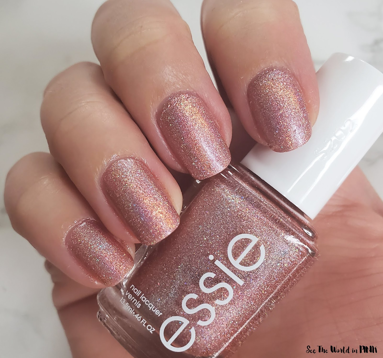 Manicure Monday - Fall Stamped Nails and Essie Gorge-ous Geodes