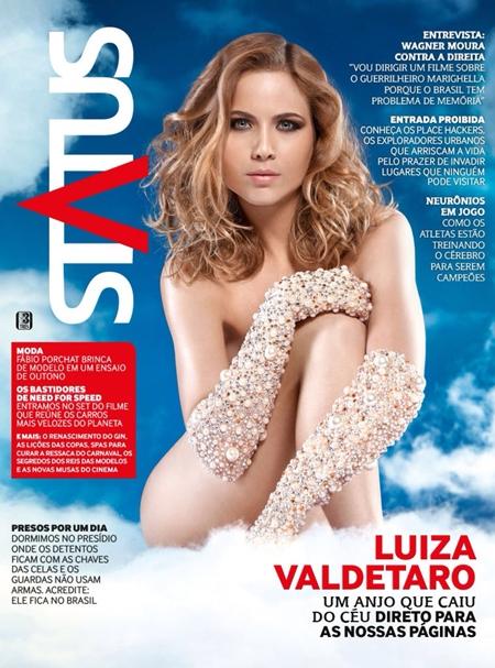Luiza Valdetaro na Revista Status