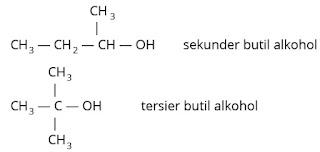 contoh alkohol sekunder dan alkohol tersier