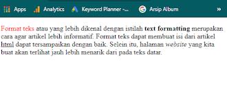 Contoh teks format html